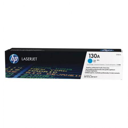 Toner HP Original (130A) CF351A ciano até 1000 páginas