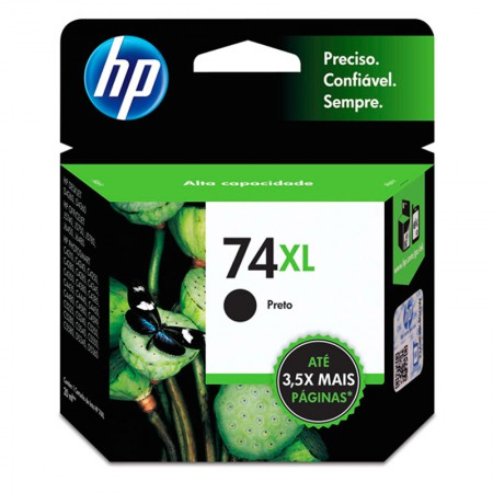 Cartucho HP Original (74XL) CB336WB - preto rendimento 750 páginas