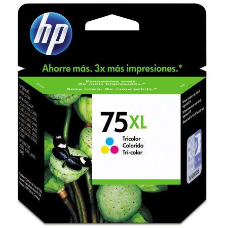 Cartucho HP Original (75XL) CB338WB - cores rendimento 520 páginas