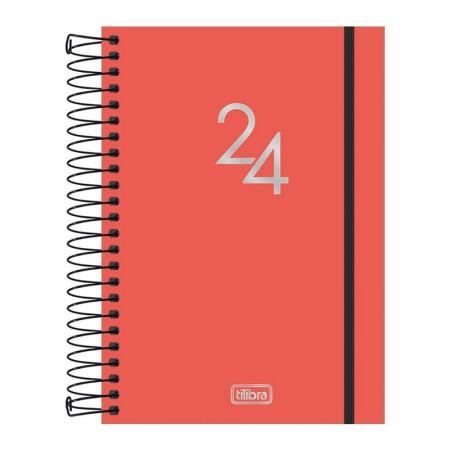 Agenda espiral diária capa plástica Neon 2020 - Roxo - Tilibra