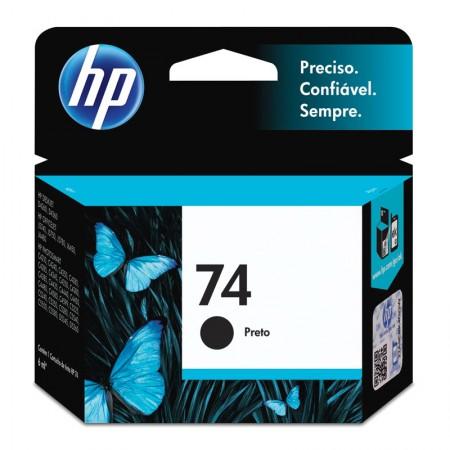 Cartucho HP Original (74) CB335WB - preto rendimento 200 páginas