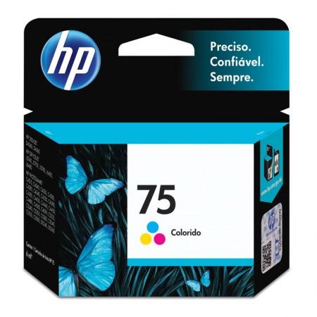 Cartucho HP Original (75) CB337WB - cores rendimento 170 páginas