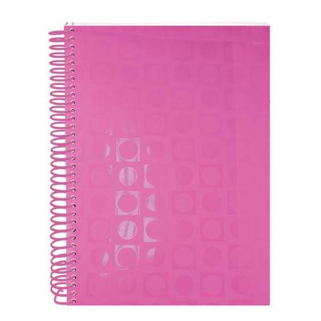 Caderno espiral capa dura universitário 10x1 - 200 folhas - 2357PI - Vision Pink - Dac