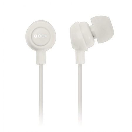 Fone de ouvido Auricular branco - FN100/BC - Oex