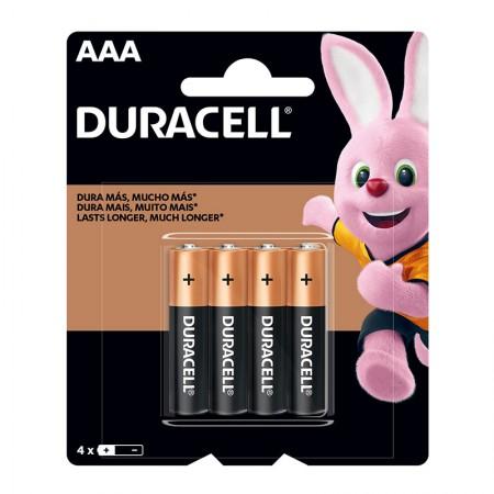 Pilha alcalina palito AAA - com 4 unidades - Duracell