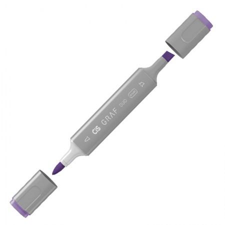 Caneta marcador artistico Graf Duo Brush - (81) - Deep Violet - Cis