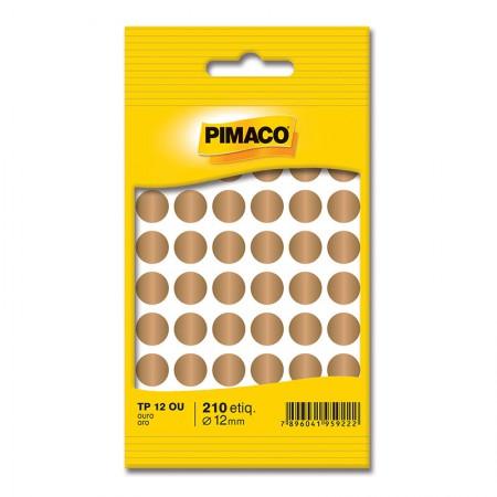 Etiqueta adesiva TP12 - ouro - Pimaco