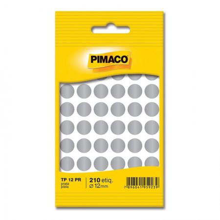 Etiqueta adesiva TP12 - prata - Pimaco