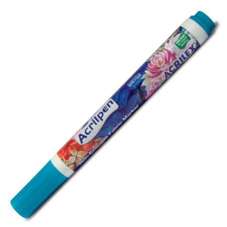 Caneta Acrilpen marcador para tecido azul celeste 503 - Acrilex