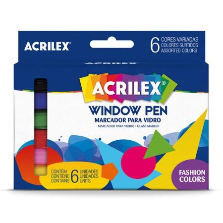 Caneta para vidro Window Pen - com 6 unidades - Acrilex