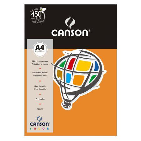 Papel Color Vivaldi A4 120g laranja - com 15 folhas - Canson