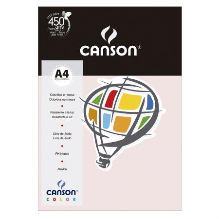 Papel Color Vivaldi A4 120g rosa claro - com 15 folhas - Canson