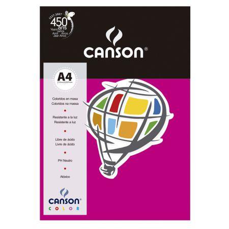 Papel Color Vivaldi A4 120g rosa escuro - com 15 folhas - Canson
