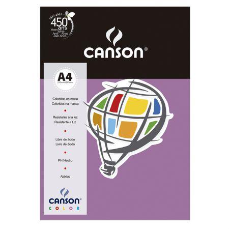 Papel Color Vivaldi A4 120g lilás - com 15 folhas - Canson