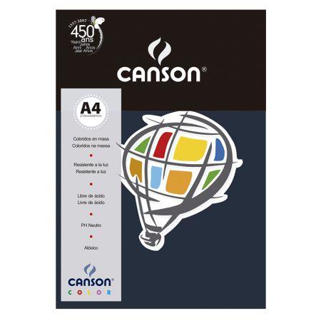 Papel Color Vivaldi A4 120g azul marinho - com 15 folhas - Canson
