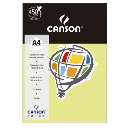 Papel Color Vivaldi A4 120g verde claro - com 15 folhas - Canson