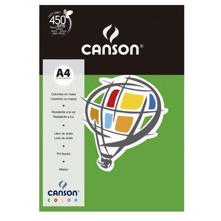 Papel Color Vivaldi A4 120g verde escuro - com 15 folhas - Canson