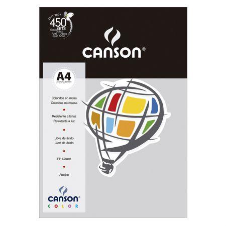 Papel Color Vivaldi A4 120g cinza - com 15 folhas - Canson