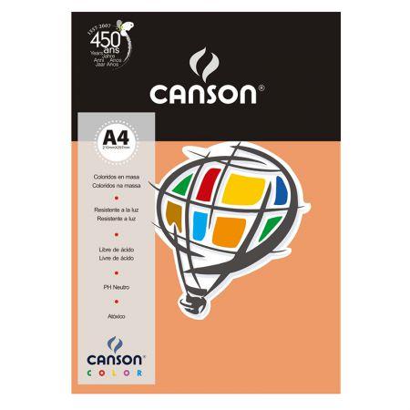 Papel Color Vivaldi A4 120g pêssego - com 15 folhas - Canson