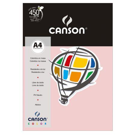 Papel Color Vivaldi A4 180g rosa claro - com 10 folhas - Canson