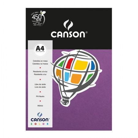 Papel Color Vivaldi A4 180g lilás - com 10 folhas - Canson