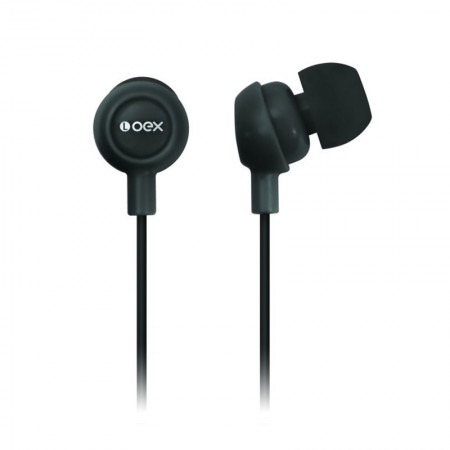 Fone de ouvido Auricular preto - FN100/PT - Oex