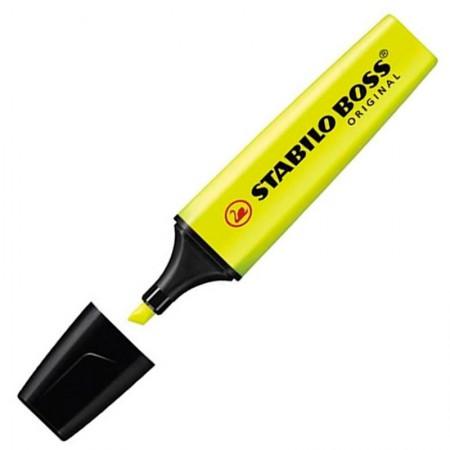 Pincel marca texto Boss - Amarelo - 70/24 - Stabilo