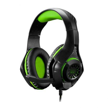 Headset USB+P3+P2 Gamer Warrior rama verde Led - PH299 - Multilaser