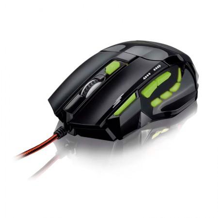 Mouse USB Gamer QuickFire Verde com 7 botões 2400DPI - MO208 - Multilaser