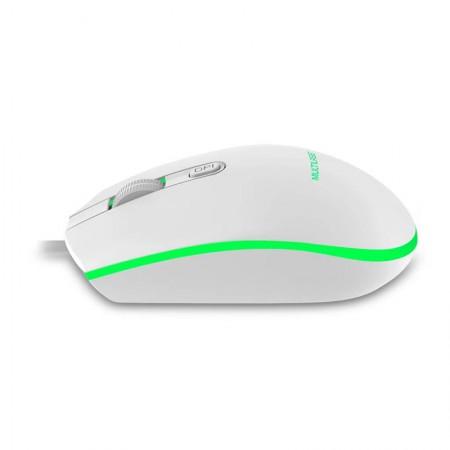 Mouse USB Gamer Led 7 Cores Branco 2400DPI - MO299 - Multilaser