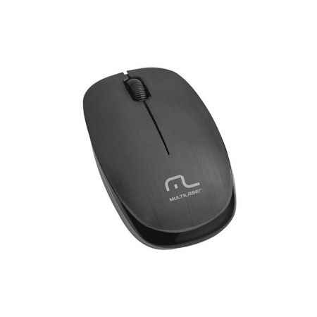 Mouse sem fio 2.4 1200 dpi preto usb MO251 - Multilaser