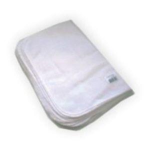 Flanela de algodão branca 28x38