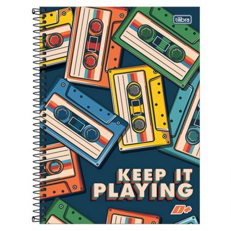 Caderno espiral capa dura universitário 10x1 - 200 folhas - D Mais - Shark Area - Tilibra