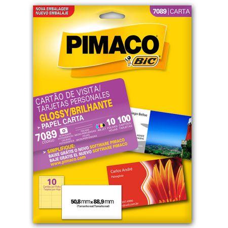 Papel cartão de visita glossy 7089 - com 10 folhas - Pimaco