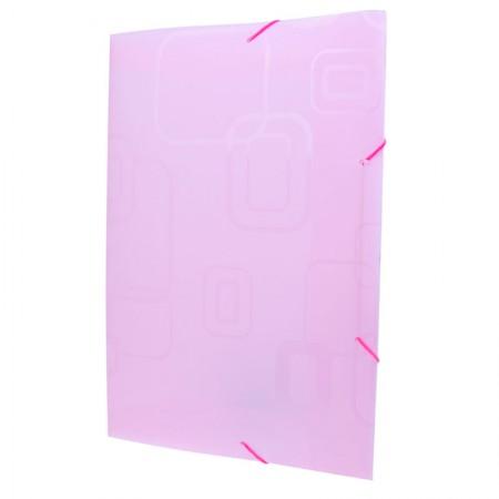 Pasta com aba elástico opaca - rosa - 241.Q - Dello