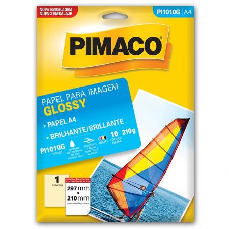 Papel glossy brilhante A4 - PI1010G - com 10 folhas - Pimaco