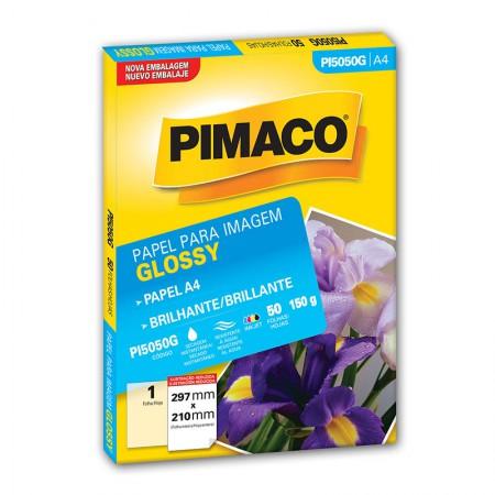 Papel glossy brilhante A4 - PI5050G - com 50 folhas - Pimaco