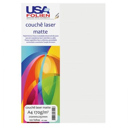 Papel fotográfico couchê laser matte A4 170g - 7459 - com 100 folhas - Usa Folien