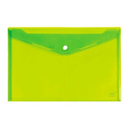 Envelope plástico com botão A4 - 653PP-VD - Verde - Dac