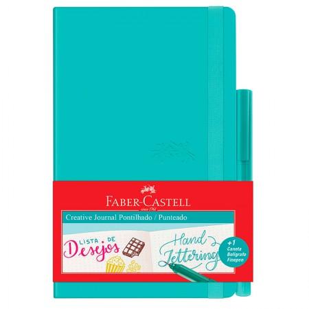 Caderneta Criative Journal pontilhado - 84 folhas - verde - CDNETA/VD - Faber-Castell