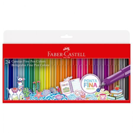 Caneta hidrográfica Fine pen Colors - com 24 Cores - FPB/ES24ZF - Faber-Castell