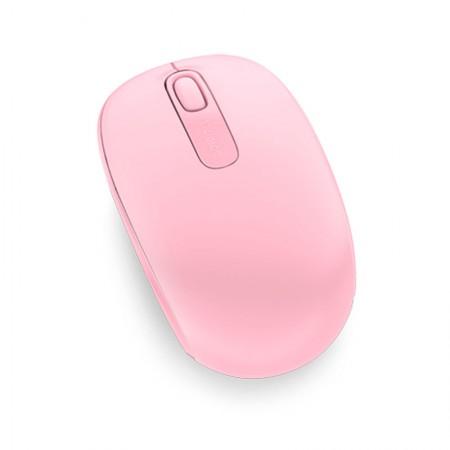 Mouse sem fio óptico U7Z-00028 rosa claro - Wireless Mobile 1850 - Microsoft
