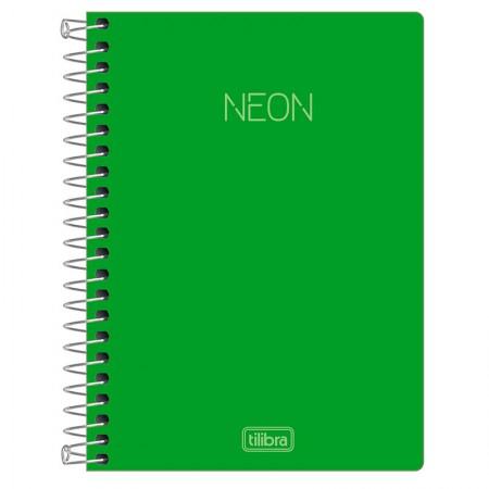 Caderneta capa dura espiral 1/8 - Neon Verde - 80 folhas - Tilibra
