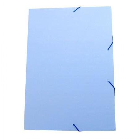 Pasta aba elástico ofício - Linho Serena - Azul pastel - 246.BP - Dello