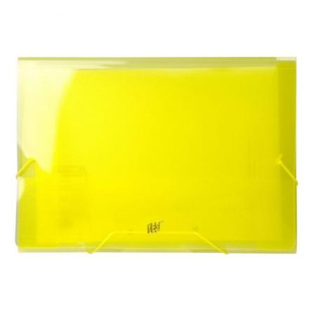 Pasta transparente aba elástico ofício - amarelo - P02BS/AM - Yes