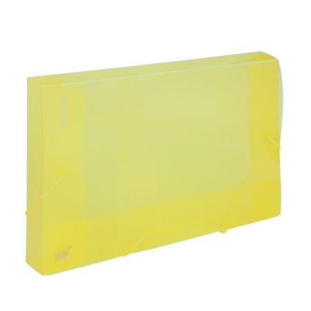 Pasta transparente ofício 30mm amarela CX030S - Yes