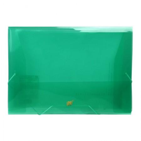 Pasta transparente aba elástico ofício - verde - P02BS/VD - Yes
