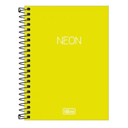 Caderneta capa plástica 1/8 Neon Verde Limão S/P 80 Fls - Tilibra