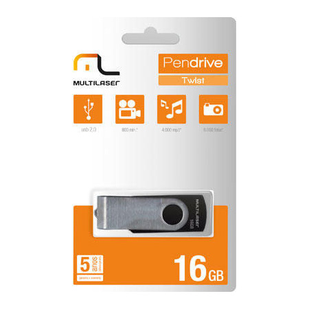 Pen drive 16GB PD588 - Multilaser