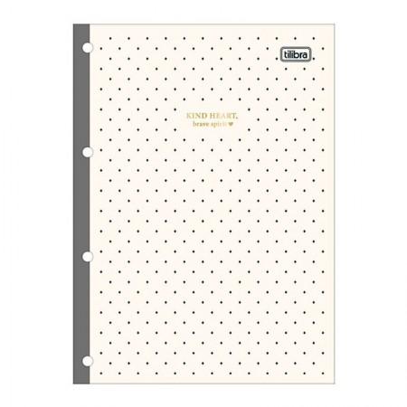 Bloco para fichário universitário West Village 4 furos - 80 folhas - 294683 - Tilibra